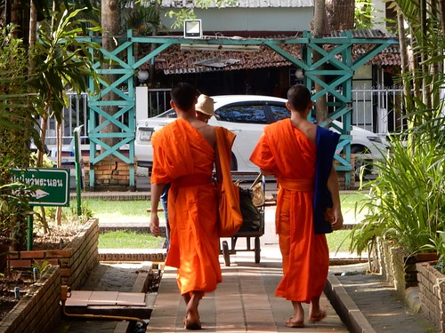 Monks Heading Out