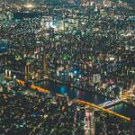 Tokyo sunset with Mount Fuji thumbnail
