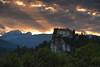 Sunset on Bled Castle