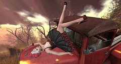 A girl and her truck!  A thing of beauty! (Rhaenys Targaryen) Tags: rockabilly blog chezpika catwa teapi veechi darkpleasures truth enchantment we3roleplay maitreya amarabeauty reallyrockabilly anatomy
