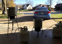 It was a beautiful day for some homebrewin (broox) Tags: bmw homebrew