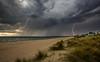 Twin strike (longbeach-clouds) Tags: chelseabeach chelsea cloud clouds coast beach bay bayside portphillipbay water sand sunset storm lightning rain