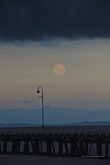 Full moon rising under shelf cloud at Sandgate Pier Shorncliffe IMGP2992f (john.robert_mcpherson) Tags: bay bramble full moon shelf cloud