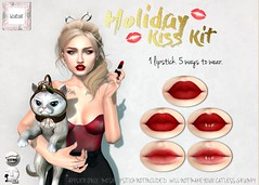 WarPaint* @ TCF - Holiday Kiss Kit <3 (Mafalda Hienrichs) Tags: chapter four tcf warpaint war paint holiday kiss kit catwa lelutka applier lipstick christmas lipgloss bento