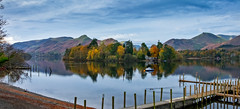 Derwent Water (Peter Leigh50) Tags: lake lakes district keswick derwent water landscape trees reflection reflections shore beach mountains hill hills fujifilm fuji xt10