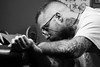 Sacredlinestattoo. Cristian (queco07) Tags: barcelona poblenou street tattoos sacredlinestattoo people blackwhite blackandwhite bw