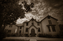 Lincoln Cottage (cmfgu) Tags: presidentlincolnscottage president abrahamlincoln presidentlincolnandsoldiershomenationalmonument washingtondc districtofcolumbia capital home house summerwhitehouse history historic armedforcesretirementhome usa unitedstatesofamerica american nationalhistoriclandmark hdr highdynamicrange sepia monochrome craigfildesfineartamericacom fineartamericacom craigfildespixelscom craigfildesphotography artist artistic photograph photo picture prints art wall canvasprint framedprint acrylicprint metalprint woodprint greetingcard throwpillow duvetcover totebag showercurtain phonecase mug yogamat fleeceblanket spiralnotebook sale sell buy purchase gift