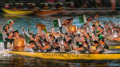 35th Singapore River Regatta 2017 (Night Race) (leslie hui) Tags: panning singapore nightscape night dragonboat