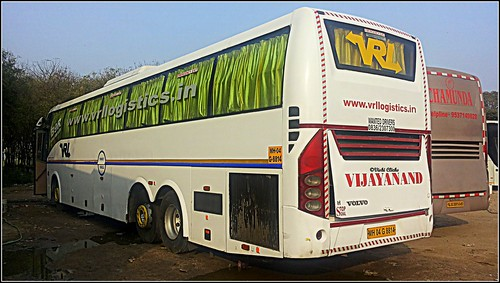 Vrl Travel Volvo B9r Semi Sleeper Coach Bus Ahmedabad To Pune