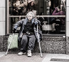 I am sick and tired of being sick and tired. Fannie Lou Hamer (Lorrainemorris) Tags: ireland dublin streetphotography oldlady tired sick