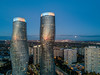 Supermoon? [Explored] (Empty Quarter) Tags: dji mavic pro drone aerial mississauga sauga ontario sunset supermoon absolute condo towers marilyn monroe square one blue hour golden reflection cityscape toronto skyline