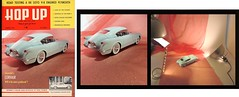 1954 Chevy Corvette/Corvair Faux Magazine cover and Glamour Shot (Michael Paul Smith) Tags: 1953 1954 corvette fast back dream car 118th scale resin cast faux magazine cover glamour shot