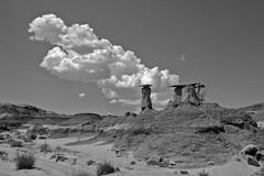 Ah-Shi-Sle-Pah badlands; San Juan Co., New Mexico, USA. (cbrozek21) Tags: ahshislepah badlands newmexico blackandwhite monochrome landscape rocks geology nature pentaxart blackwhite