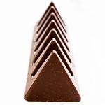 Chocolate pyramids, close up thumbnail