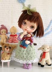 Lucy a Blythe/ Littlefee Hybrid (Desertmountainbear) Tags: blythe littlefee hybrid doll bjd