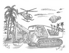 Lost Lake (rod1691) Tags: bw scifi grey concept custom car retro space hotrod drawing pencil h2 hb original story fantasy funny tale automotive art illistration greyscale moonpies sketch sexy