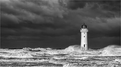 Storm Brian (Phil Durkin) Tags: crashingwaves england lighthouse liverpool newbrighton northsea northwest sea storm stormbrian thewirral uk windy daytime nopeople waves wind
