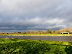 Yesterday in my city (BrigitteE1) Tags: bremen germany sky himmel wolken clouds sonne sun light licht farben colors colours landschaft landscape wasser water
