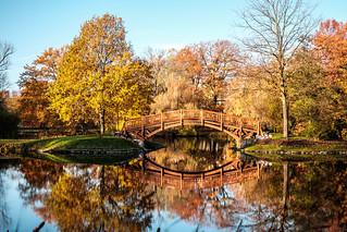 Brücke im Johannapark Leipzig