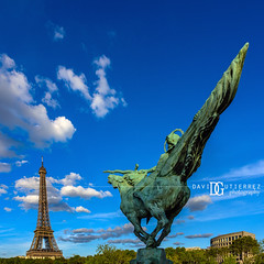La France Renaissante - Paris, France (davidgutierrez.co.uk) Tags: architecture city photography davidgutierrezphotography art urban londonphotographer color paris skyscraper people uk france nikond810 nikon travel photographer blue eiffeltower toureiffel 巴黎 パリ 파리 париж parís parigi colors colours colour europe beautiful cityscape davidgutierrez capital structure ultrawideangle champdemars afsnikkor1424mmf28ged 1424mm d810 street arts tower pontdiéna riverseine summer sunny daytime lafrancerenaissante statue history landmark icon building birhakeim pontdebirhakeim