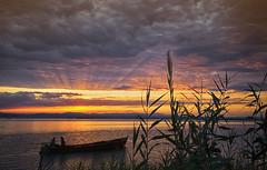 on golden pond (stumayhew) Tags: explored explore valencia spain lake sunset boat laalbufera naturereserve nature landscape sunrays clouds golden orange reflection water canon 6d wideangle