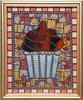 caramel nut cupcake (toadranchlady) Tags: mosaicart mixedmediamosaic temperedglass stainedglass foundobjects