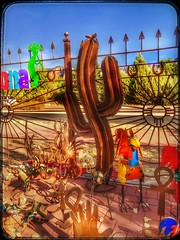 That fence.... (Sherrianne100) Tags: art colorful kitsch happyfencefriday fence sedona arizona