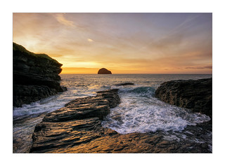 TREBARWITH STRAND SUNSET