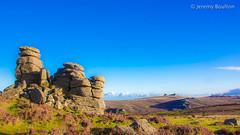Haytor from Houndtor (JKmedia) Tags: dartmoor devon southdevon wild haytor rock granite moorland moor boultonphotography 2017 blue bluesky countryside people erosion houndtor landscape