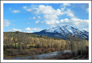Mount Sopris and the Cyrstal River, Colorado