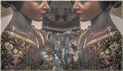 Frente a frente (seguicollar) Tags: rostros caras náriz boca flores mirror espejo escultura mujer imagencreativa photomanipulación art arte artecreativo artedigital virginiaseguí