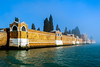 San Michele (Blende1.8) Tags: venice venezia mist nebel neblig venedig sanmichele friedhof cemetery friedhofsinsel isle insel mauer wall backstein bricks water bluesky color colour colours vivid outdoor italy italia italien travel waterscape nikon d700 carstenheyer