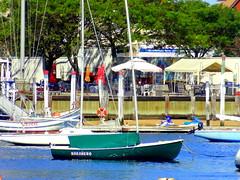 "Sheepshead Bay. Yacht ""Habanero"" (dimaruss34) Tags: newyork brooklyn dmitriyfomenko image sky trees sheepsheadbay yacht yachts water"