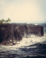 Cliff (auberginbear) Tags: hawaii bigisland nature landscape waves cliff powerful