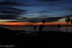 Malibu Sunrise November 21 2017 (TimAup) Tags: sunrise malibu southerncalifornia socal beach ocean pier palmtrees clouds seagulls birds