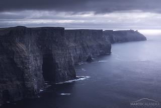 Dark cliffs