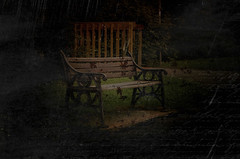 bench (kapper22) Tags: bench writing effects water drops photoshop experiment