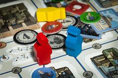 game of suspects (Antti Tassberg) Tags: epäillyt gamesorgamepieces macro macromondays piece chip suspects bokeh game board 100mm lens prime peli