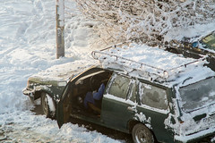 Cold morning (bat_pepo) Tags: winter snow old car opel
