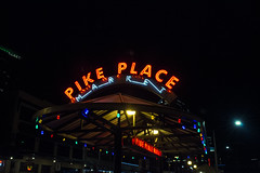 ppm (Michael Dees) Tags: long exposure seattle pike place landscape cityscape night life neon