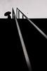 Untitled (LoKee Photo) Tags: lokee low key black white silhouette man umbrella light shadow rain paris street city urban