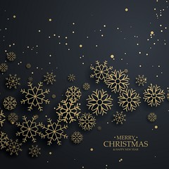 awesome black background with gold snowflakes for merry christma (csrnewssa.co.za) Tags: merry christmas xmas winter celebration background festival greeting eve happy new year festive december merrychristmas card holiday decoration bokeh snow snowflake flake snowy icy cool cold dark gold