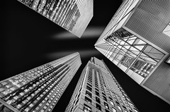 Up and up (Sean X. Liu) Tags: architecture skyscrapers blackandwhite blackwhite monochrome toronto ontario canada building tallbuildings contrast converging