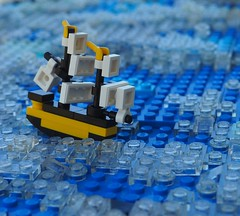The End of the White Doubloon (Robert4168/Garmadon) Tags: lego ship brethrenofthebrickseas eslandola mardier bobs micro telescope water sea ocean waves ripples