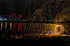 171202 3314 (steeljam) Tags: steeljam nikon d800 lightpainters wire woll spinning o2 isle dogs beach long exposure