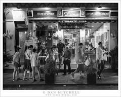 Ristorante Luna (G Dan Mitchell) Tags: littleitaly newyork city state manhattan night ristorante restaurante luna sidewalk people tableau urban blackandwhite monochrome usa north america travel