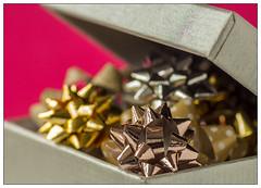 Gift Bows (EddieAC) Tags: buttonsandbows macromondays giftbows box pink macro