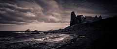 A Castle Noir (stephen cosh) Tags: dunure landscape mediumformat scotland seascape stephencosh
