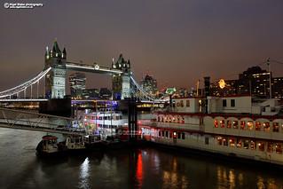 Tower Bridge at night, London UK