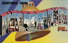 Greetings from Philadelphia, Pennsylvania - Large Letter Postcard (Shook Photos) Tags: postcard postcards linen linenpostcard largeletter largeletterpostcard largeletterpostcards bigletter bigletterpostcard bigletterpostcards greetings philadelphiapennsylvania philadelphia pennsylvania